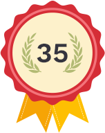 35 years badge